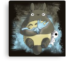 Totoro and the blind forest Canvas Print