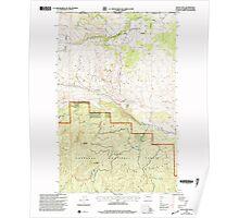 USGS Topo Map Washington State WA Mount Hull 242499 2001 24000 Poster