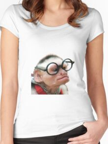 Funny Monkey Women's Fitted Scoop T-Shirt