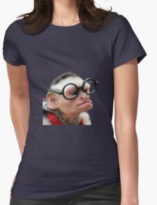 Funny Monkey Womens Fitted T-Shirt