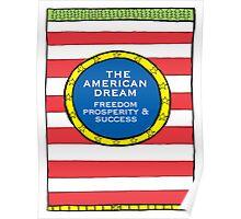 The American Dream illustration Poster
