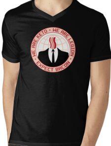 We Are Keto - We Are Legion - Expect Bacon Mens V-Neck T-Shirt