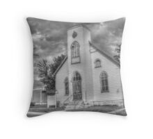 Weathered Church Throw Pillow