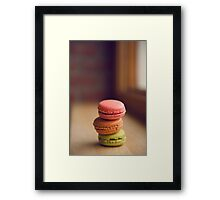 French Macaroon Pile-up Framed Print