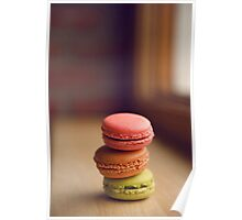 French Macaroon Pile-up Poster