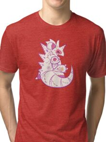 Nidoking Pokemuerto | Pokemon & Day of The Dead Mashup Tri-blend T-Shirt