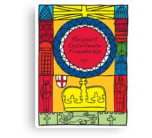 Great Britain Illustration 'London 2012' Canvas Print