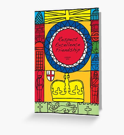 Great Britain Illustration 'London 2012' Greeting Card