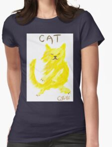 Dancing Cat Womens Fitted T-Shirt