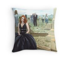 Queen Of The Undead Throw Pillow