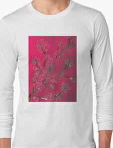 Pink Blossoms Long Sleeve T-Shirt