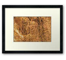 Haitian Rock Face and Dirt - Horizontal Framed Print