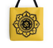 Vintage Om Yoga Lotus Flower Tote Bag