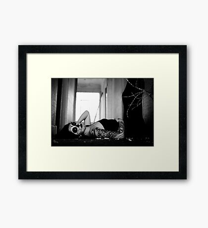 raw evil Framed Print