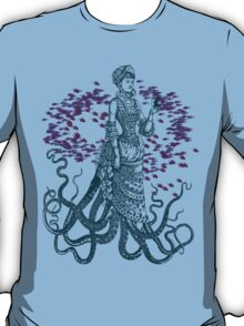 Octopus Lady Holding a Dancing Mouse T-Shirt