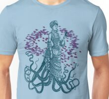 Octopus Lady Holding a Dancing Mouse Unisex T-Shirt