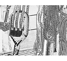 Block and Tackle Photographic Print