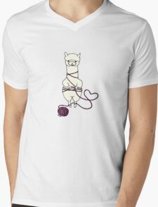 alpaca tied up Mens V-Neck T-Shirt