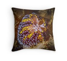 Top View Of The Magnificent Ascidian Throw Pillow