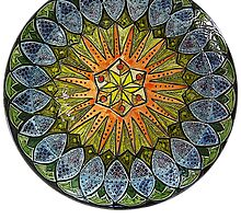 Ornate Mandala in Greens by KFStudios