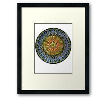Ornate Mandala in Greens Framed Print