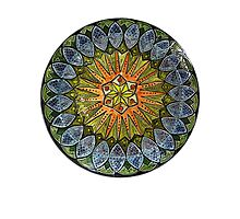 Ornate Mandala in Greens Photographic Print