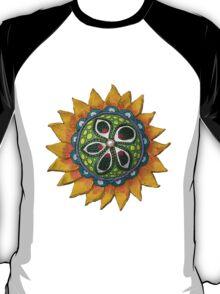 Sun Sunflower Mandala Original Print Design from Clay T-Shirt