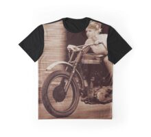Vintage Biker Girl Graphic T-Shirt