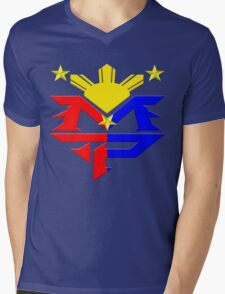 Manny Pacquiao Pac-Man Boxing Champion Mens V-Neck T-Shirt