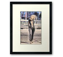The Woman at La Defense. Framed Print