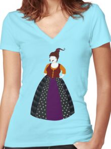 Hocus Pocus- Mary Sanderson Women's Fitted V-Neck T-Shirt