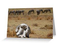 Reality of the Serengeti Greeting Card