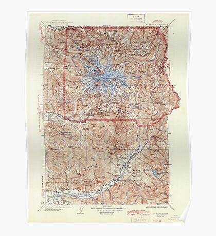 USGS Topo Map Washington State WA Mt Rainier 242672 1928 125000 Poster