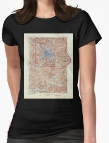 USGS Topo Map Washington State WA Mt Rainier 242672 1928 125000 Womens Fitted T-Shirt