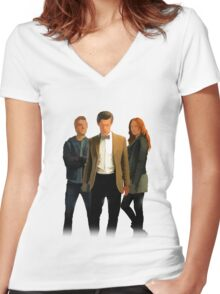 The Doctor and The Ponds Women's Fitted V-Neck T-Shirt