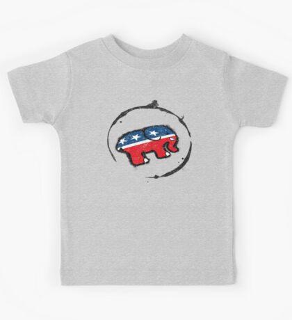 Republican Elephant Grunge Kids Tee