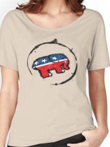 Republican Elephant Grunge Women's Relaxed Fit T-Shirt