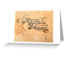 Mischief Managed Harry Potter inspired Marauders Map Greeting Card