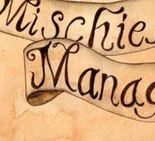 Mischief Managed Harry Potter inspired Marauders Map Sticker