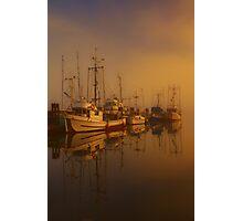 Misty Moorings II Photographic Print