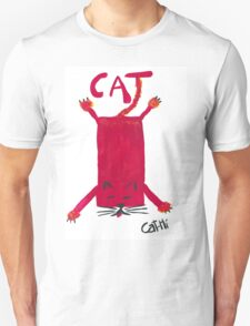 Red Rectangle Cat T-Shirt