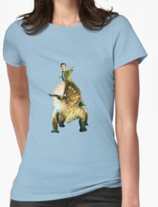 Dinosaurs On A Spaceship Womens Fitted T-Shirt