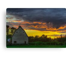 Sunset from Sultan, WA Canvas Print