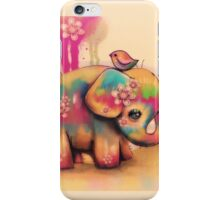 vintage tie dye elephants iPhone Case/Skin