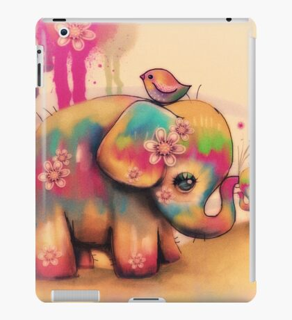 vintage tie dye elephants iPad Case/Skin