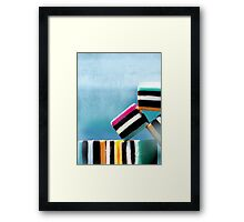 liquorice sea sculpture I Framed Print