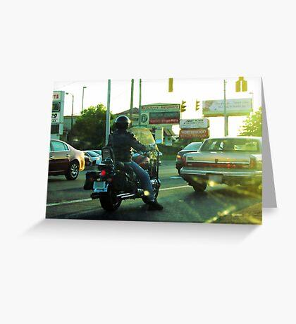 Sunset Traffic Greeting Card