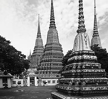 Bangkok - Wat Pho (The Reclining Budda Temple) by Mark Bolton