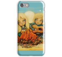 beach campfire iPhone Case/Skin