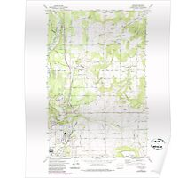 USGS Topo Map Washington State WA Mead 242270 1973 24000 Poster